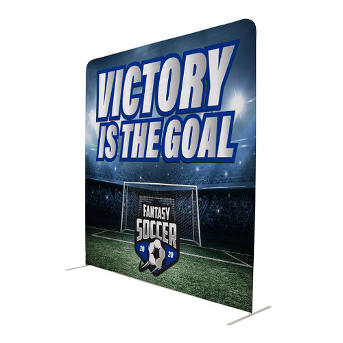 10' W x 10' Tall Eurofit Straight Wall Double Sided Graphic Kit