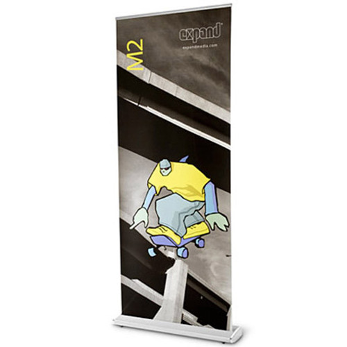 MediaScreen 4 Retractable Fabric Banner