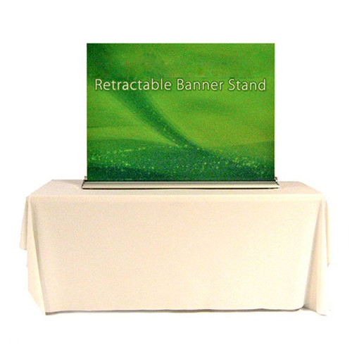 """48"""" Tabletop Retractable Banner Stand Fabric Print"""