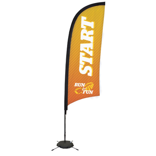 9' Premium Razor Sail Sign Kit (Single-Sided with Scissor Base)