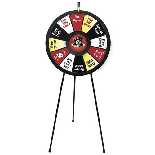 Promotional Prize Wheel Kit with Telescoping Legs Floor Stand
