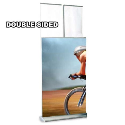 "36"" Two Step Retractable Stand Double Sided"
