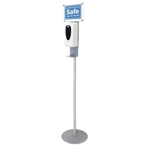 Simple Touch Free Hand Sanitizer with Over Head Sign