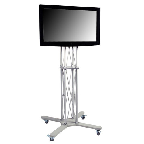 Monitor Stand Kiosk EZ Fold Portable 85 inch Tall Workstation for 40-70 Inch TV's