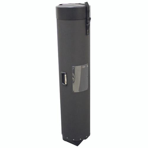 "Black Plastic Case with Wheels 12.25""W x 54.5""H x 12.25""D"