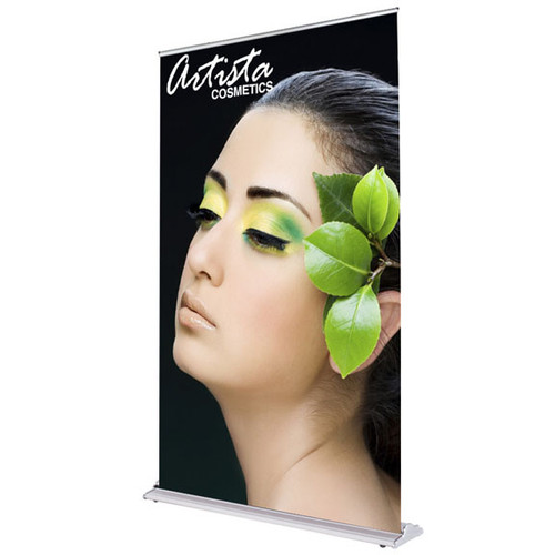 48 in.  SilverStep  Retractable Banner Stand