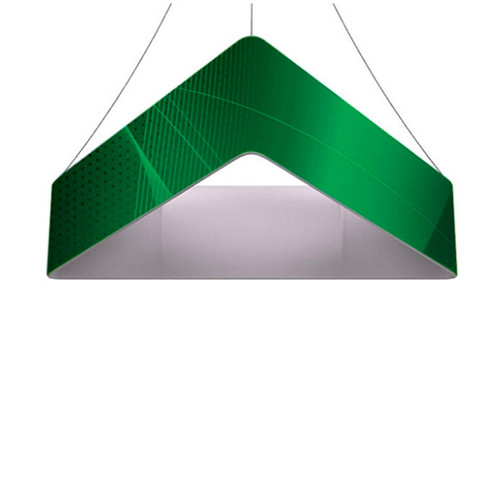 10ft Triangle Hanging Banner 36in with Outside Graphic