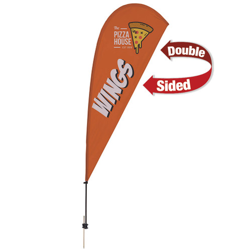 9.5' Value Teardrop Sail Sign Kit (Double-Sided with Ground Spike)