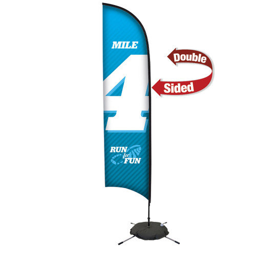 13' Premium Razor Sail Sign Kit (Double-Sided with Scissor Base) (190758)