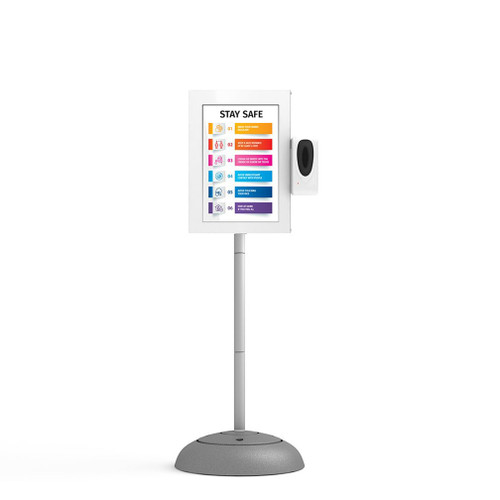 "Digital Kiosk 21.5"" Sign with Automatic Hand Sanitizer Dispenser"