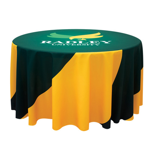 4ft Round Table Throw with 25 inch overhang (Full-Color, Full Bleed)