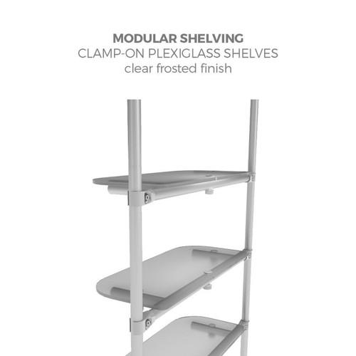 Merchandiser Clear Plexiglass Shelving