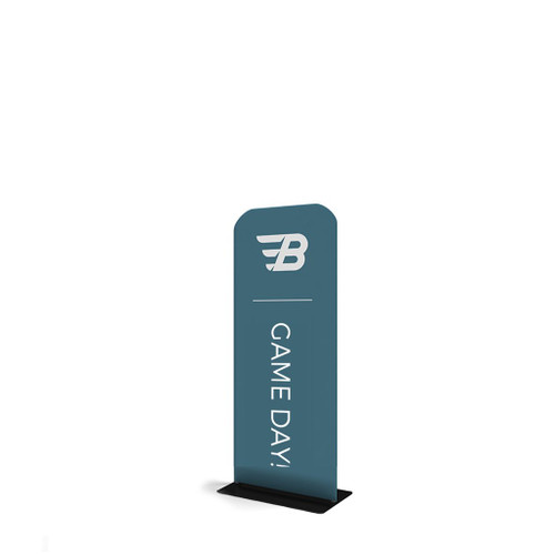 """Waveline 24"""" Double-Sided Banner Stand"""