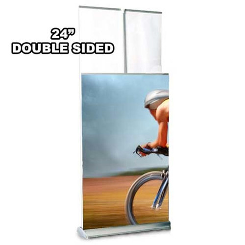 "24"" Two Step Retractable Stand Double Sided"