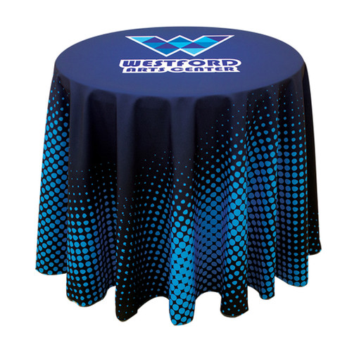 31.5 Inch Round Table Throw with 27 inch overhang