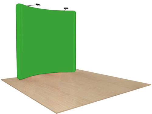 Green Screen Backgrounds or Backdrops 8ft Curved Fabric Chroma Key