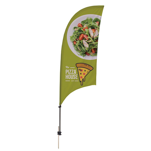 7.5' Value Razor Sail Sign Kit (Single-Sided with Ground Spike) (191650)