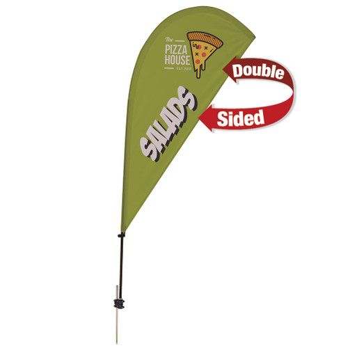 6.5' Value Teardrop Sail Sign Kit (Double-Sided with Ground Spike) (191612)