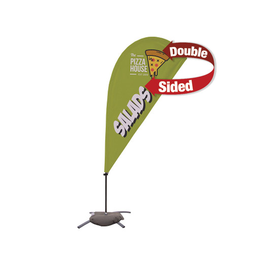 6.5' Value Teardrop Sail Sign Kit (Double-Sided with Cross Base) (191613)