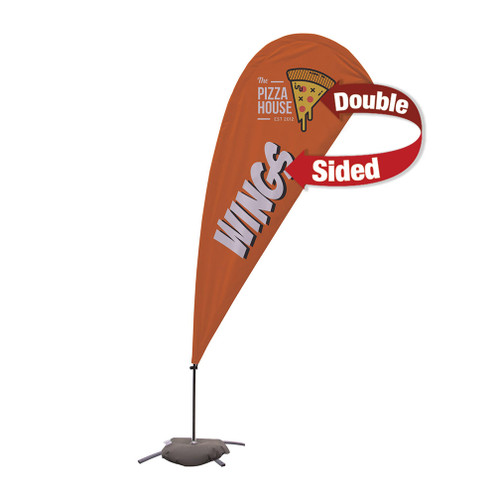 9.5' Value Teardrop Sail Sign Kit (Double-Sided with Cross Base) (191621)