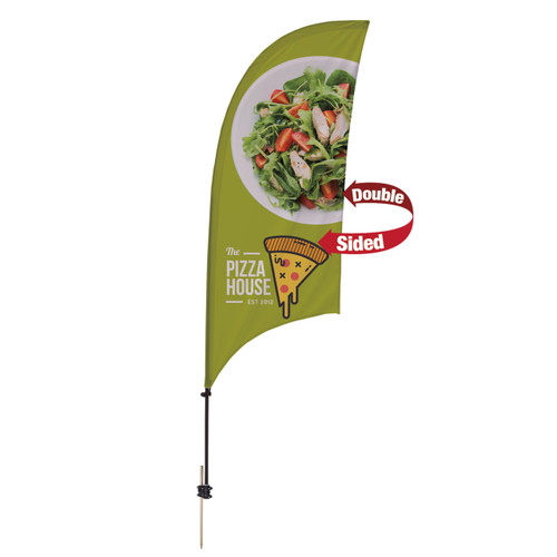 7.5' Value Razor Sail Sign Kit (Double-Sided with Ground Spike) (191652)