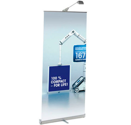 ExpoLinc Roll Up Compact  Retractable Fabric Banner