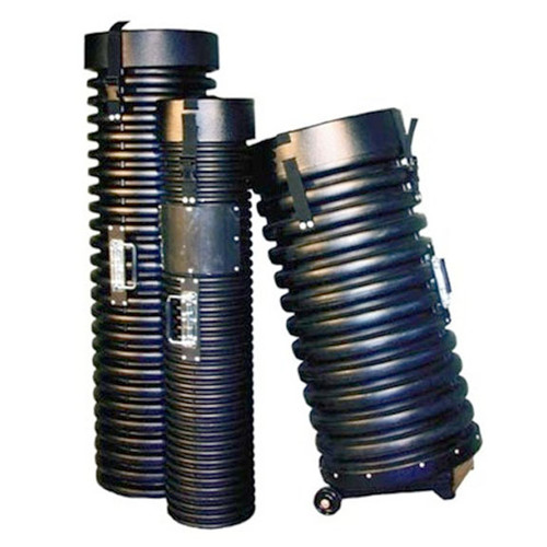 """8"""" Tank Tube Shipping Case Ribbed with Wheels"""