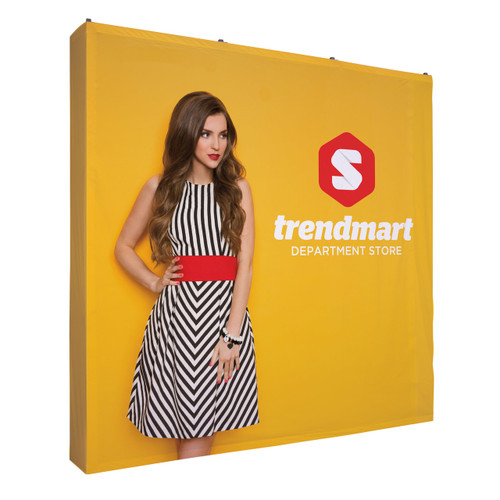 8ft Straight Fabric Pop Up with 4-Sided Graphic Kit (341052)