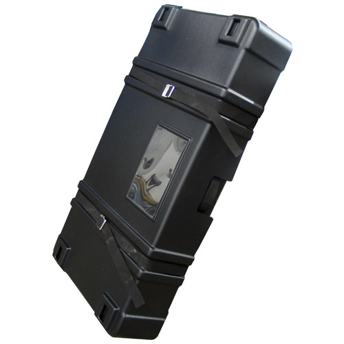 Black Plastic Carrying Case with Wheels 53 in (W) x 23.75 in (H) x 7.5 in (L) (220023)