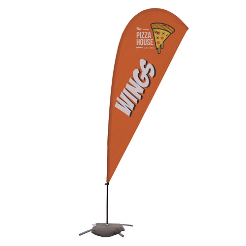 9.5' Value Teardrop Sail Sign Kit (Single-Sided with Cross Base)