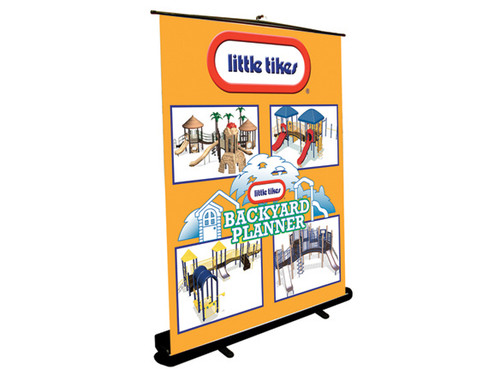 """GrandStand XL Retractable Fabric Banner Stand 64"""" Wide"""