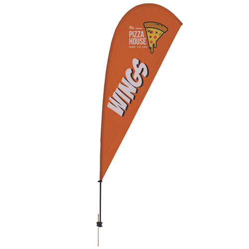 9.5' Value Teardrop Sail Sign Kit (Single-Sided with Ground Spike) (191618)