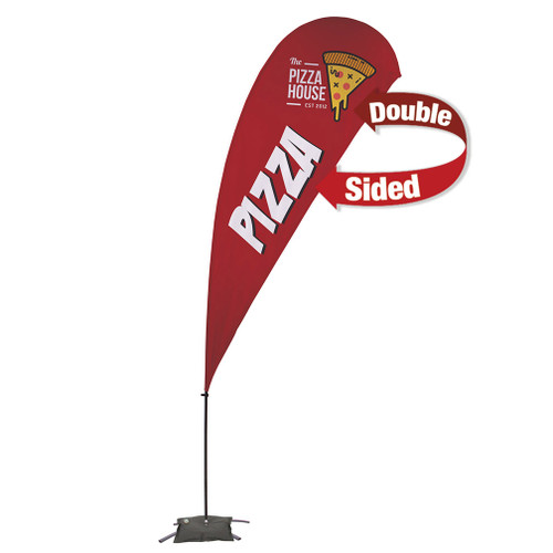 13' Value Teardrop Sail Sign Kit (Double-Sided with Cross Base) (191629)