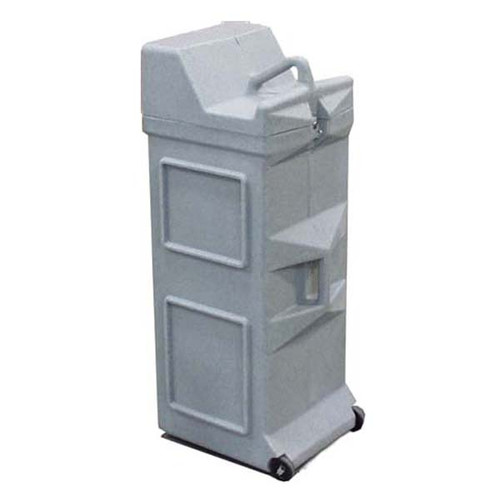 Large Square Gray Granite Roto-Molded Shipping Case w/Wheels
