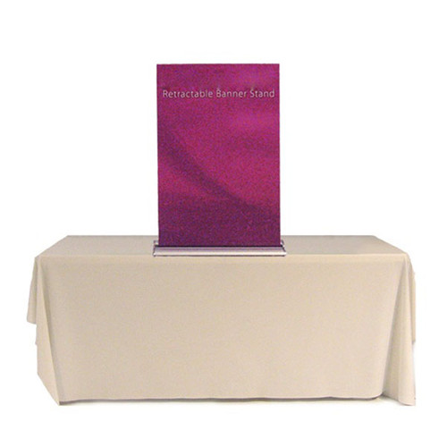 """24"""" Tabletop Retractable Banner Stand Fabric Print"""