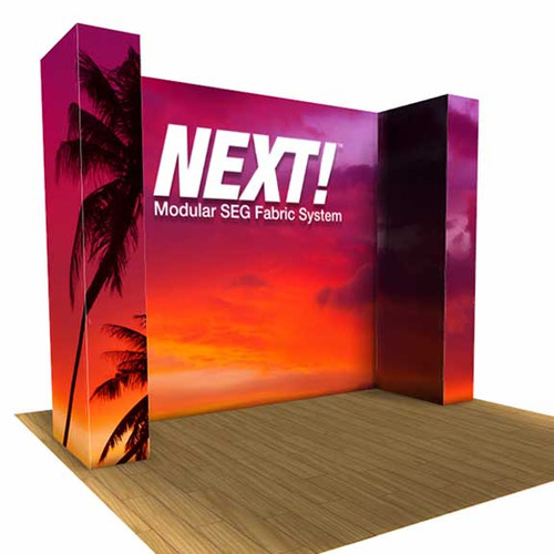 SEG Pop Up Trade Show display 10ft U Display