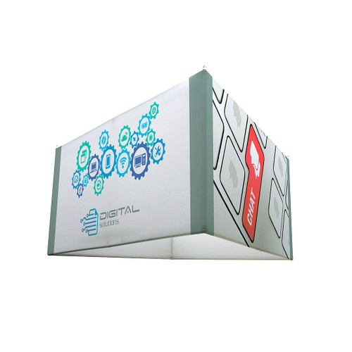 "8ft x 42"" H Triangle EuroFit Hanging Banner Kit (210229)"