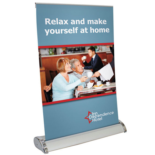 "Tabletop Retractable Banner Stands 11""w x 17""h"