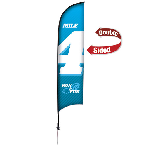 13' Premium Razor Sail Sign Kit (Double-Sided with Ground Spike)