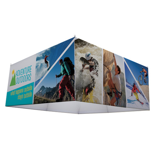 "8ft x 42"" H Square EuroFit Hanging Banner Kit"