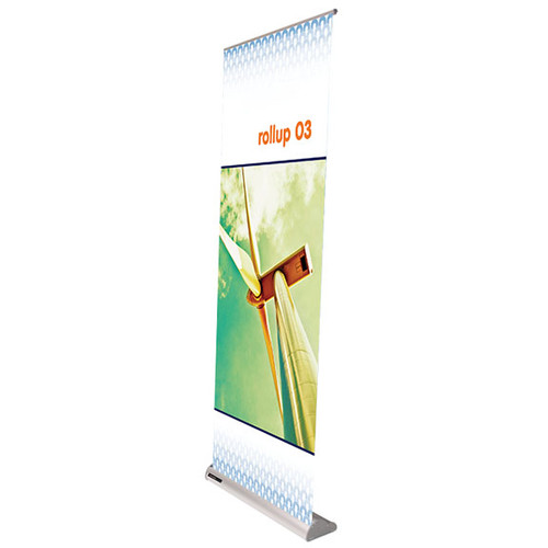 """Rollup 03 retractable banner stand 31.5""""w x 29""""h up to 83""""h"""