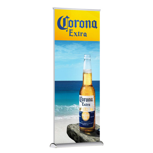 """Shark Premium Double-Sided Banner Stand 36""""w x 72"""" high SoFlat Vinyl Graphic Print"""