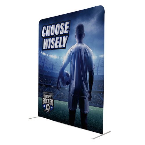 8' W x 10' Tall Eurofit Straight Wall Double Sided Graphic Kit