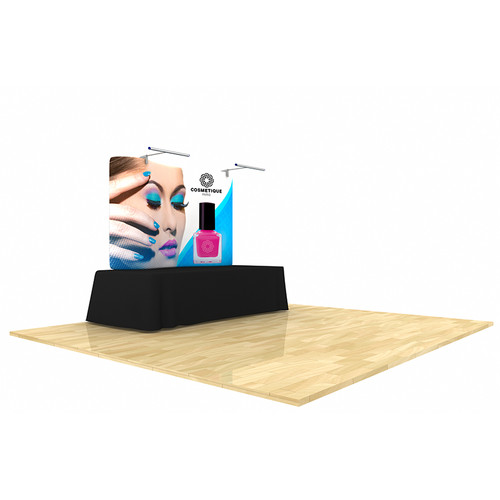 Wave Tube Display 8ft Curved Table Top with Graphic (WT8TTC)