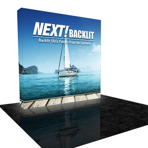 8ft Backlit SEG Fabric Lightbox Display