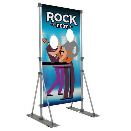 Performer Double Face Cutout Banner Display Kit (18 oz. Vinyl, Single-Sided) (263270)