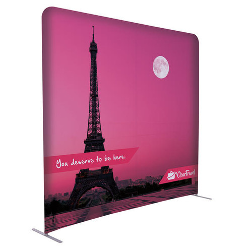 8ft EuroFit Wall Floor Double-Sided Display Kit