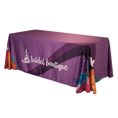 6ft Satin Standard Closed Back Table Throw