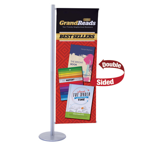 Flex Banner Display Kit, Single Banner (Double-Sided)