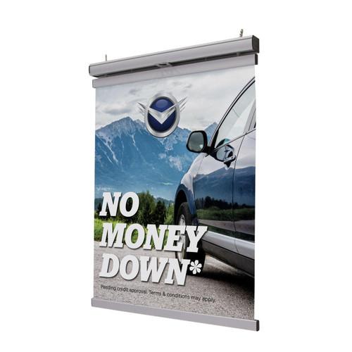 """Pulldown Hanging Banner Display Kit 22"""""""